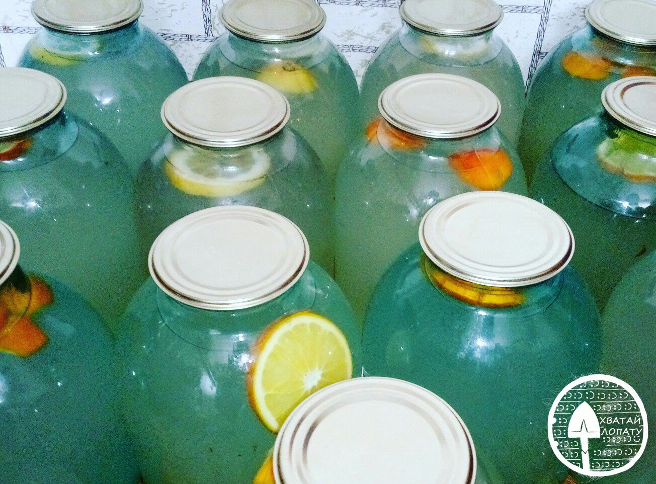 березовый сок с лимоном, апельсином