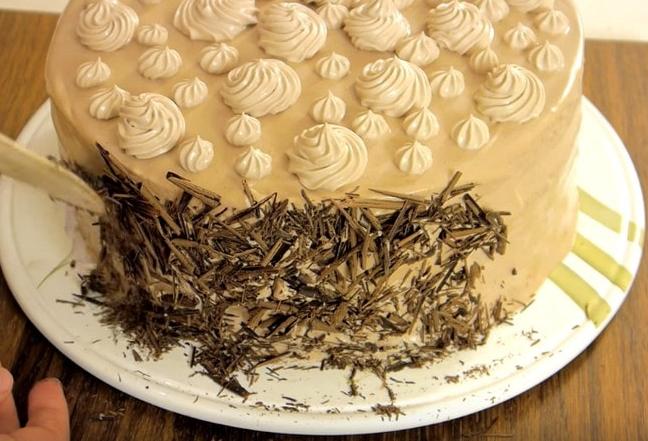 Пошаговый рецепт торта Нежность с фото